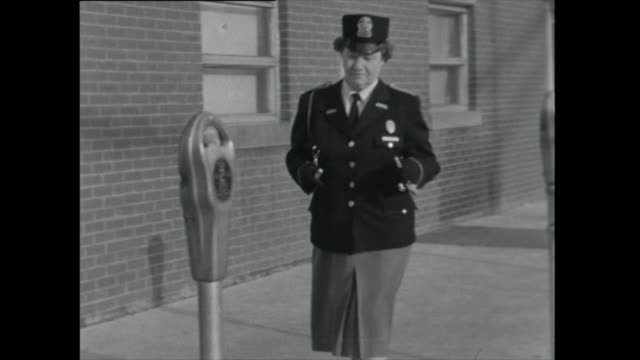 parking inspector checks meters - 1961 stock videos & royalty-free footage