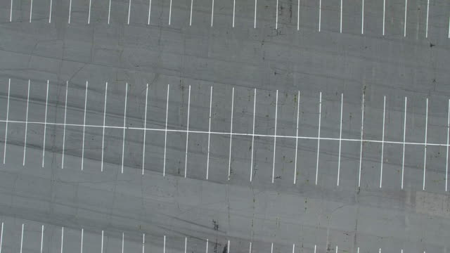 parking lot from above - car park stock videos & royalty-free footage