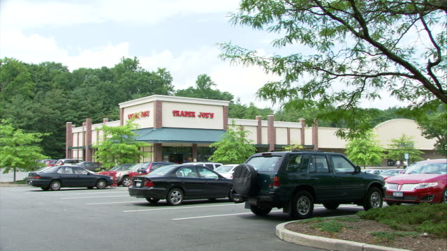 ws parking lot in front of trader joe's / hartsdale, new york, usa - car park stock videos & royalty-free footage