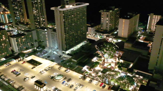parking lot on a rooftop of a building - oahu stock videos & royalty-free footage