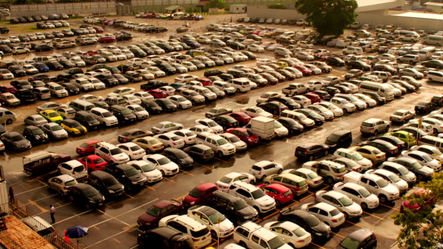 parking lot time lapse - car park stock videos & royalty-free footage