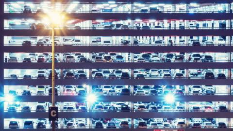 vídeos y material grabado en eventos de stock de estacionamiento lapso de tiempo - aparcamiento