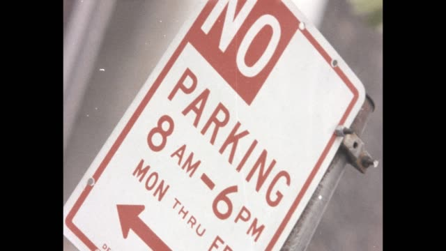 1985 nyc - parking signs - no parking sign stock videos & royalty-free footage