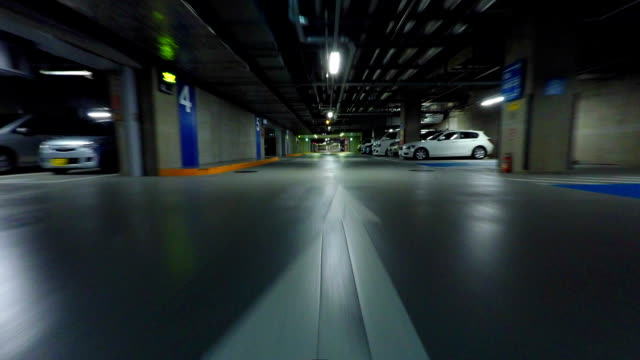 parking - diminishing perspective stock videos and b-roll footage