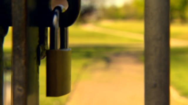 parks closed in middlesborough during lockdown due to the coronavirus pandemic despite government advice they should remain open - lock stock videos & royalty-free footage