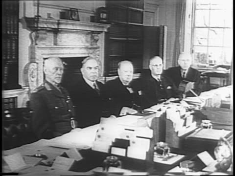 parliament and tower / winston churchill hosts meeting of 5 prime ministers of the british commonwealth to discuss war plans / commonwealth leaders... - bbc stock videos & royalty-free footage