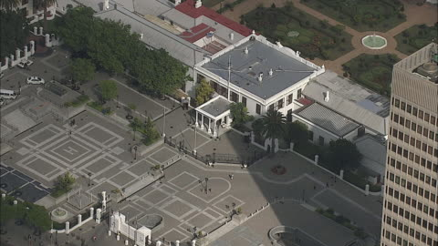 aerial ms parliament building and adjacent square, cape town, western cape, south africa - parliament building stock videos & royalty-free footage