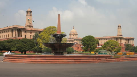 parliament building,  new delhi, india, asia - parliament building stock videos & royalty-free footage