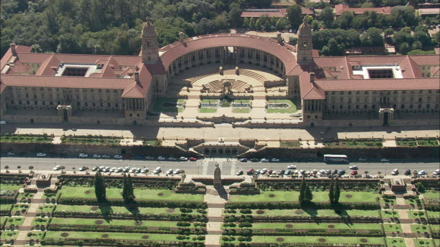 aerial ws parliament building, pretoria, gauteng, south africa - parliament building stock videos & royalty-free footage