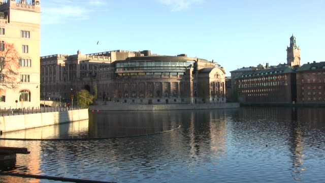 parliament building - sweden stock videos & royalty-free footage
