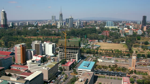 parliament building & west nairobi nairobi  kenya  africa - nairobi stock videos and b-roll footage