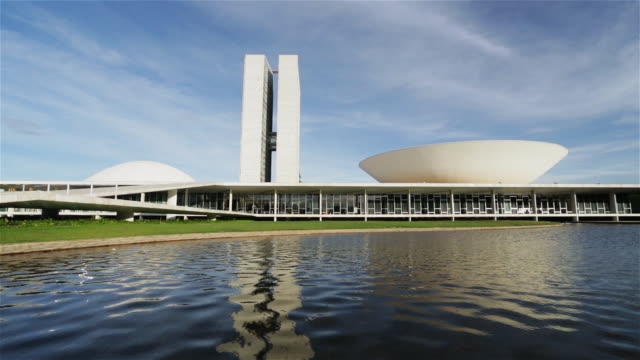 ws parliament buildings or national congress / congresso nacional do brasil / brasilia, brazil - brasilia stock videos and b-roll footage