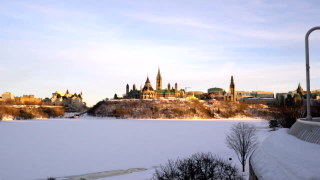 parliament hill at sunset - parliament hill stock videos and b-roll footage