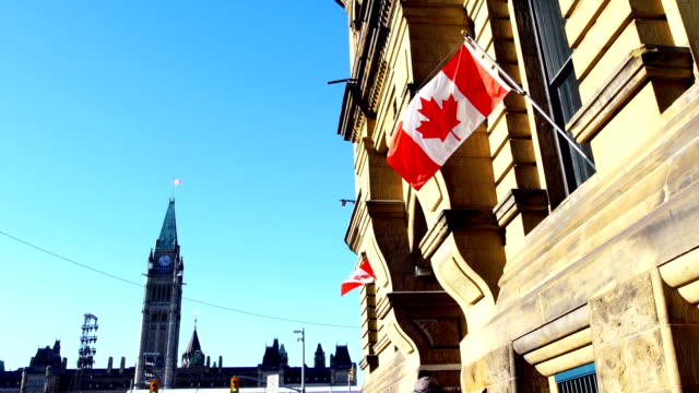 parliament hill of canada - politics and government stock videos & royalty-free footage