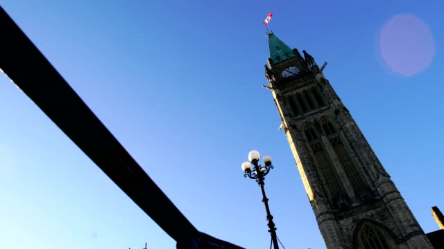 parliament hill of canada - tower stock videos & royalty-free footage