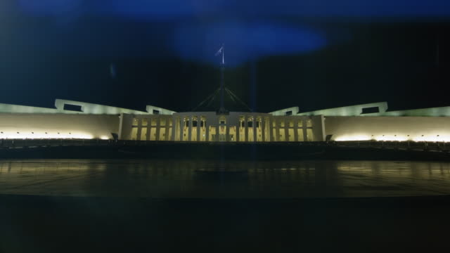 parliament house at night, canberra, australia - united states congress stock videos & royalty-free footage