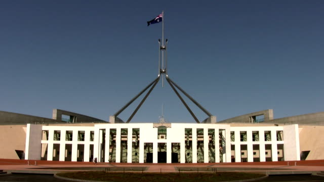 parliament house, canberra, act, australia - parliament building stock videos & royalty-free footage