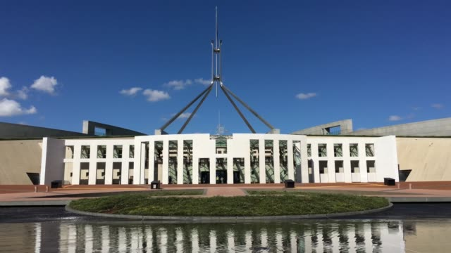 parliament house of australia canberra - parliament building stock videos & royalty-free footage