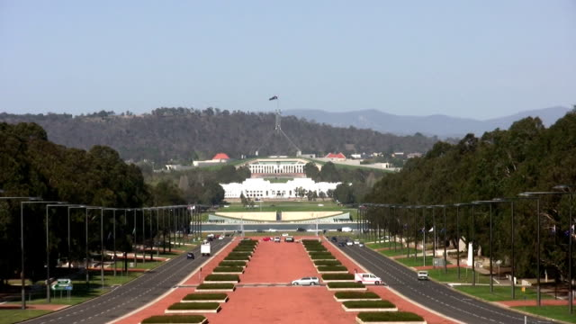 parliament house, old and new, canberra, act, australia - canberra stock videos & royalty-free footage