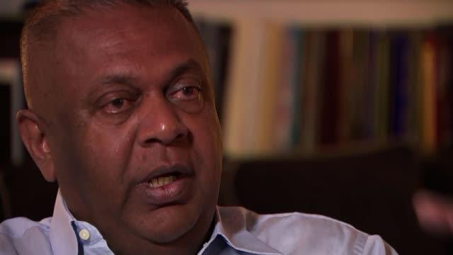parliament in political turmoil as two men claim to be prime minister sri lanka mangala samaraweera interview / sunset on waterfront mangala... - sri lankan flag stock videos & royalty-free footage