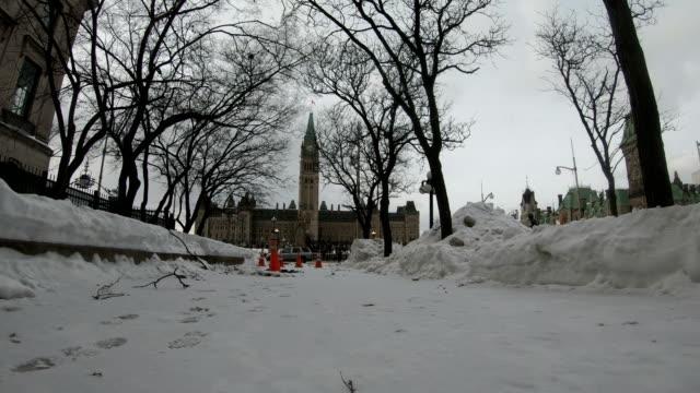 カナダ国会議事堂、オタワ、オンタリオ、カナダの伝統 - パーラメントヒル点の映像素材/bロール