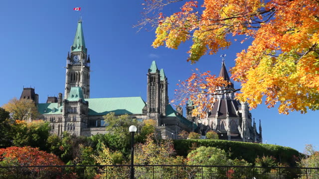 parliament of canada - parliament hill stock videos and b-roll footage