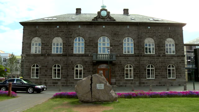 parliament of iceland - parliament building stock videos & royalty-free footage