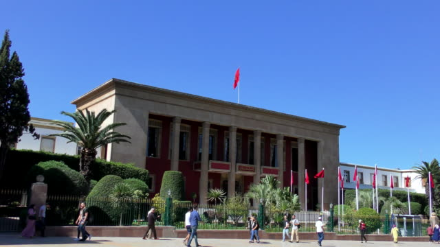 parlement - rabat, morocco - parliament building stock videos and b-roll footage