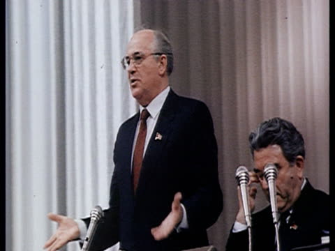 Parliamentary democracy Gorbachev dialogues between deputies / Moscow Russia AUDIO