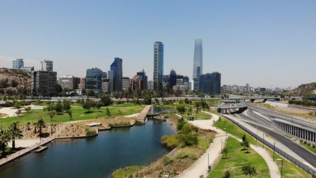 parque bicentenario - chile stock videos & royalty-free footage