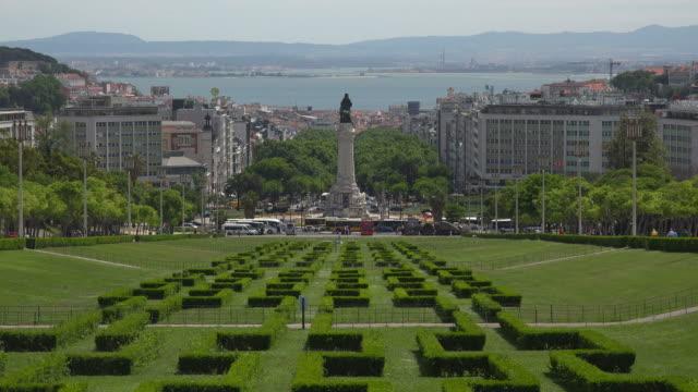 vídeos y material grabado en eventos de stock de parque eduardo vii, lisbon, portugal - eduardo vii park