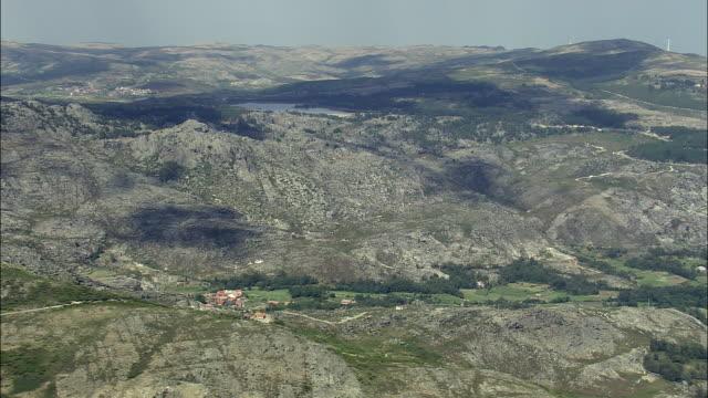 aerial ws parque natural da serra do alvao scenic landscape / serra do alvao, vila real, portugal - parque natural stock videos and b-roll footage