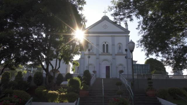 paróquia são pedro e são paulo, nova roma do sul, southern brazil. - catholicism stock videos & royalty-free footage