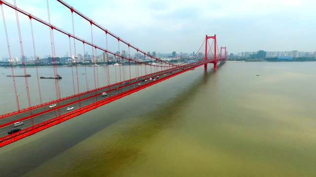 Parrot island Yangtze River Bridge in Wuhan Hubei China