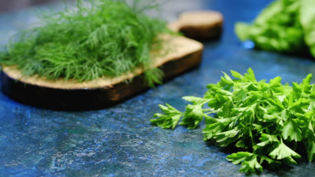 parsley and dill - parsley stock videos and b-roll footage