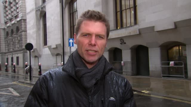 court hears details of alleged bomb Old Bailey EXT Reporter to camera
