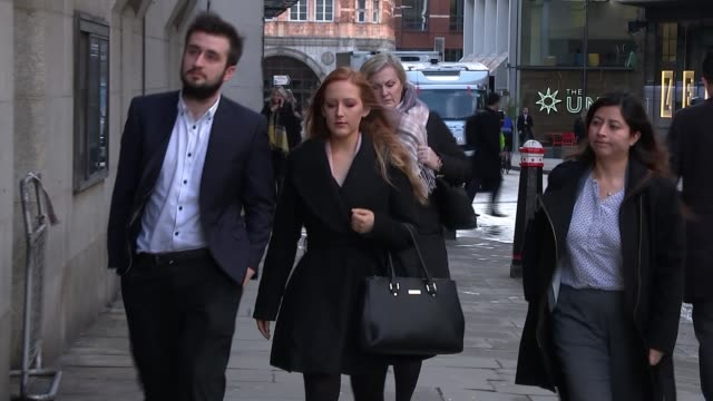 Video from inside the train shown in court Old Bailey Victoria Holloway arriving at court