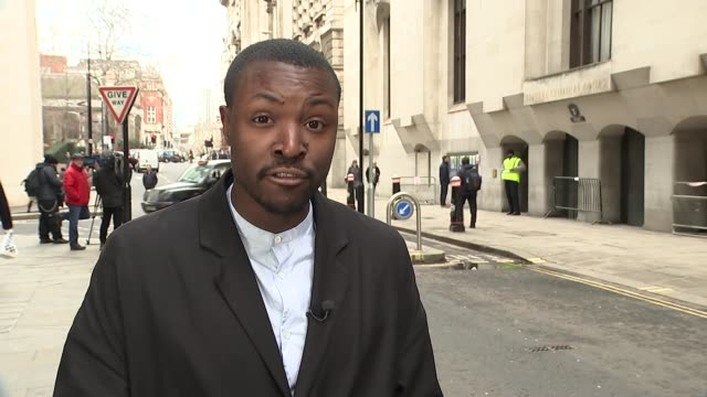 Video from inside the train shown in court London Old Bailey EXT Reporter to camera
