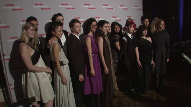 Parsons students at the 2009 Parsons Fashion Benefit Honoring Calvin Klein at New York NY