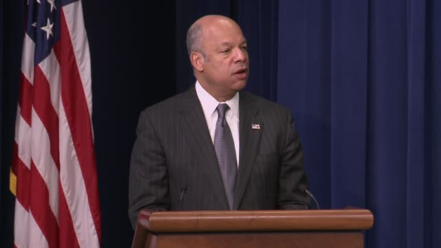 part 1 of 2 us secretary of homeland security jeh johnson remarks at the opening of day 1 of the summit on countering violent extremism as hosted by... - day 1 stock videos and b-roll footage