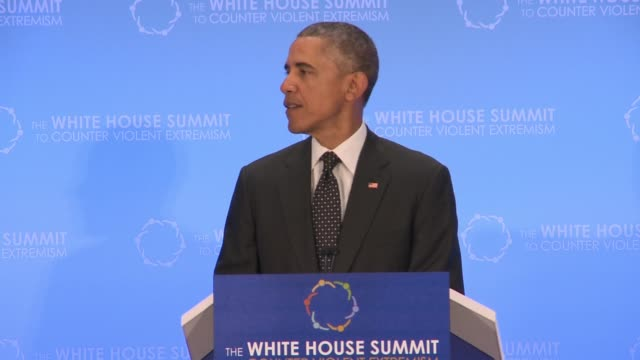 part 1 of 5 of us president barack obama's address to the summit on countering extreme violence day 2 hosted by the us state department classic head... - 2日目点の映像素材/bロール