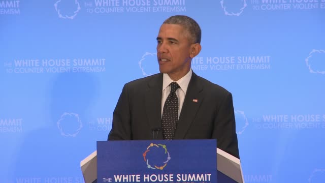 part 2 of 5 of us president barack obama's speech to day 2 of the summit on countering violent extremism as hosted by the us state department - 2日目点の映像素材/bロール