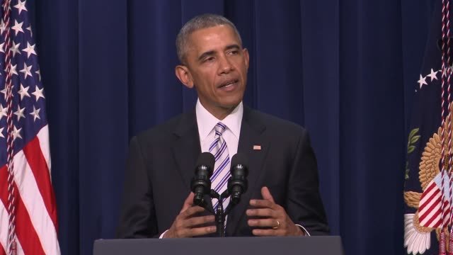 part 2 of 7 us president barack obama addresses day 1 of the summit on countering violent extremism which focused on domestic american issues and... - day 1 stock videos and b-roll footage
