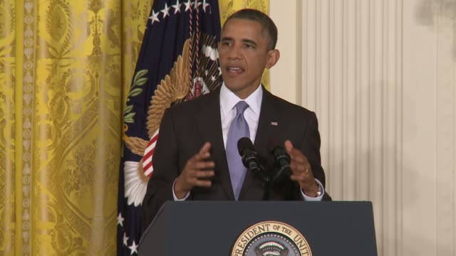 part 2 of president obama's opening statement on increased oversight of nsa fisa domestic surveillance entire presser filmed available president... - conferenza stampa video stock e b–roll
