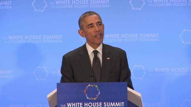 part 3 of 5 of us president barack obama speech to day 2 of the summit on countering violent extremism as hosted by the us state department - 2日目点の映像素材/bロール
