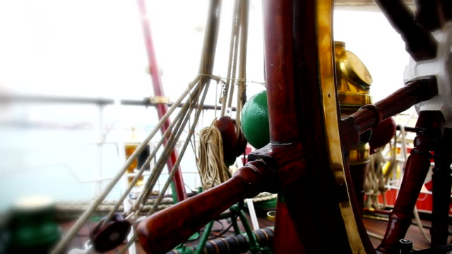 Part of a ship helm. Close up