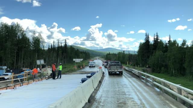 part of alaska dalton highway under construction - extreme terrain stock videos & royalty-free footage