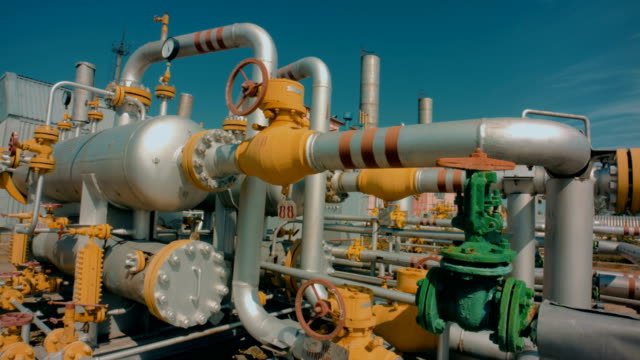 part of gas refining plant - pipeline stock videos & royalty-free footage
