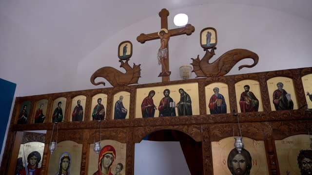 part of icons in the orthodox church - convent stock videos & royalty-free footage