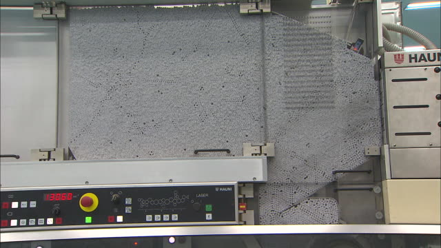 A part of machine in a tobacco-manufacturing plant